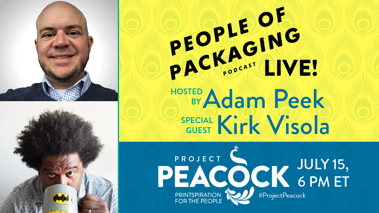 peopel of packaging podcast LIVE at Project Peacock
